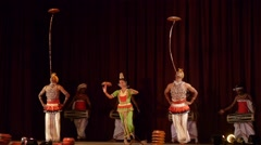 Dancers at Kandyan Cultural centre,Kandy,Sri Lanka Stock Footage