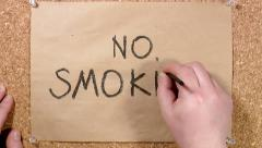 Famous quotes. No smoking Stock Footage