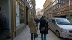 Taking a walk in Budapest Stock Footage
