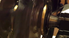 A wheel from a machine on a museum display Stock Footage