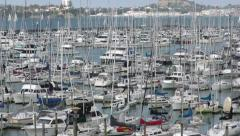 Westhaven Marina, Auckland New Zealand - stock footage