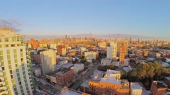 Cityscape with Ravenswood in western part of Borough of Queens Stock Footage