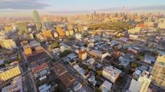 Dutch Kills, Queensboro Bridge and Manhattan skyscrapers Stock Footage