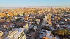 Cityscape with edifice of Holiday Inn at summer morning Stock Footage
