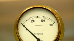A weighing scale meter Stock Footage