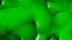 Green toxic substance, Ice pattern abstract motion background (seamless loop) Stock Footage
