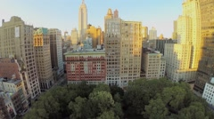 New-York City with Madison Square Park and Empire State Building Arkistovideo