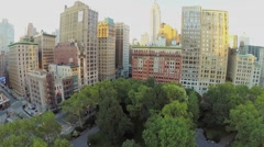 Street traffic near Madison Square Park and cityscape Arkistovideo