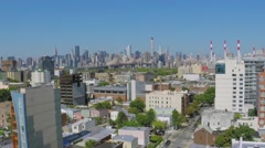 New-York City with Ravenswood in western part of Borough of Queens Stock Footage