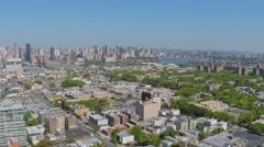 New-York City panorama with Astoria neighborhood, Long Island City Stock Footage