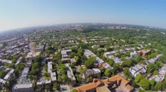 Washington DC with residential neighborhood Mount Pleasant Stock Footage