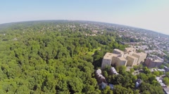 Washington DC panorama with edifice of Woodner company Stock Footage