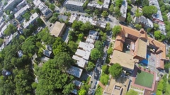 Residential neighborhood Mount Pleasant with Elementary School Stock Footage