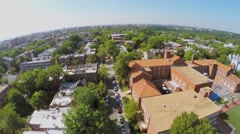 Washington DC with Elementary School in residential neighborhood - stock footage