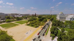 Cars ride by Madison Drive with National Museum of Natural History Stock Footage