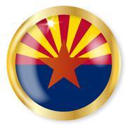 Arizona Flag Button - stock illustration