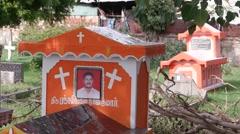 Graveyard,Trincomalee,Sri Lanka Stock Footage