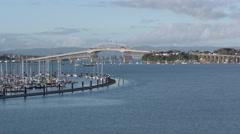 Auckland Harbour Bridge, New Zealand Stock Footage