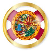Florida Flag Button Stock Illustration