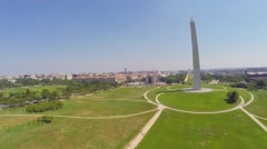 Panorama of National Mall with Washington Monument and The Ellipse Stock Footage