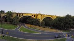 Transport traffic on William Howard Taft Bridge at summer Stock Footage