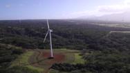 Stock Video Footage of Wind Turbines North Shore, Oahu - Aerial