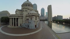 Christian Science Mother Church in Christian Science Center Stock Footage