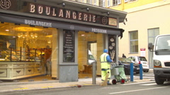 Local Boulangerie in MARSEILE, FRANCE Stock Footage