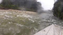 Jet boating, Wairaurahiri River, Southland, New Zealand Stock Footage