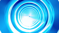 Broadcast Endless Hi-Tech Tunnel, Blue, Round, HD Stock Footage