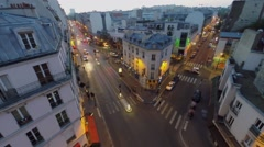 Transport traffic on streets Rue La Fayette at autumn morning Stock Footage