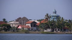 Church and lake,Batticaloa,Sri Lanka Stock Footage