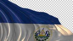 Flag of El Salvador Stock Footage