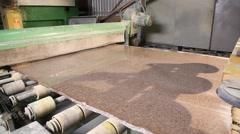Polishing machinery Stock Footage
