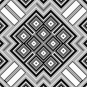 Seamless black and white geometric background generated from squers Stock Illustration