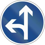 Go Straight Or Left Stock Illustration