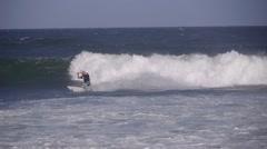 Kite surfer in rough sea,Arugam Bay,Sri Lanka Stock Footage