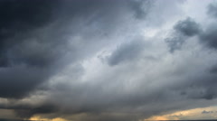 violent storm clouds time lapse 4K - stock footage
