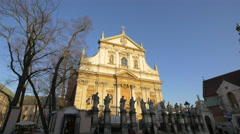 Saints Peter and Paul Church in Krakow Stock Footage