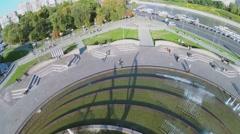 City traffic on Berezhkovskaya quay near Europe Square Stock Footage