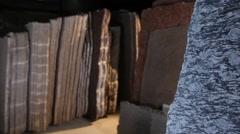 Cutting granite Stock Footage