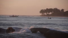 Waves on rocks,Arugam Bay,Sri Lanka Stock Footage