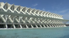 Museo se las Ciencias Principe Felipe, City of Arts & Science, Valencia, Spain. - stock footage