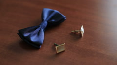 butterflie with cuff links - stock footage