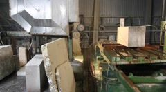 Stone processing factory Stock Footage
