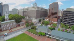 Panorama of Independence Mall with Independence Hall Stock Footage