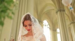 Sprinkling holy water Bride Stock Footage