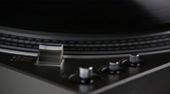 Stop playing spinning gramophone record Stock Footage
