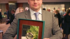 A company Yulmart representative - award winner Company Stock Footage