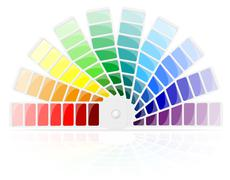 color palette illustration - stock illustration